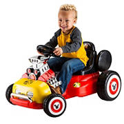 Kid Trax 6V Mickey Mouse and the Roadster Racer Go Cart Ride-On Toy