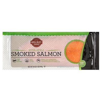 Wellsley Farms Gourmet Smoked Salmon, 1 lb.