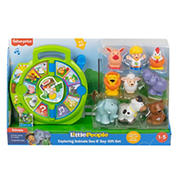Fisher-Price Little People Exploring Animals See N' Say Gift Set