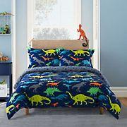 Gizmo Kids Dino Navy Comforter Set