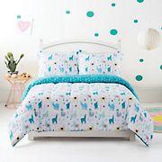 Gizmo Kids Llama Teal Multicolor Comforter Set