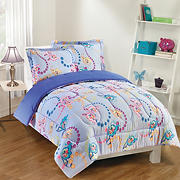 Gizmo Kids Flutter Lavender Comforter Set