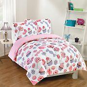 Gizmo Kids Sweet Treats Pink Comforter Set