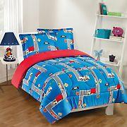 Gizmo Kids City Streets Blue/Red Comforter Set