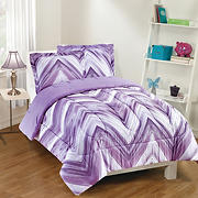 Gizmo Kids Linden Purple Chevron Comforter Set