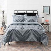 Gizmo Kids Linden Grey Chevron Comforter Set