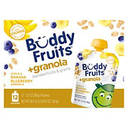 Buddy Fruits Blended Fruits with Banana Blueberry Granola Pouches, 12 pk./3.2 oz.