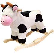 Toy Time Plush Rocker Cow Ride-On