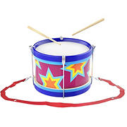 Toy Time Double-Sided Toy Drum with Drum Sticks and Adjustable Neck Strap