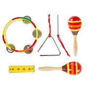 Toy Time Percussion 4-Pc. Musical Instruments Toy Set
