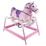 Toy Time Plush Spring Rocking Horse Ride-On