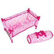 Toy Time Baby Doll Bed and Playpen