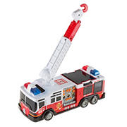 Toy Time Fire Truck with Extending Ladder, Lights and Siren Sounds