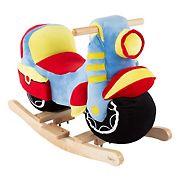 Toy Time Rocking Motorcycle Plush Stuffed Ride-On