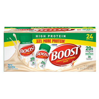 Boost High-Protein Drink, Vanilla, 24 pk./8 oz.