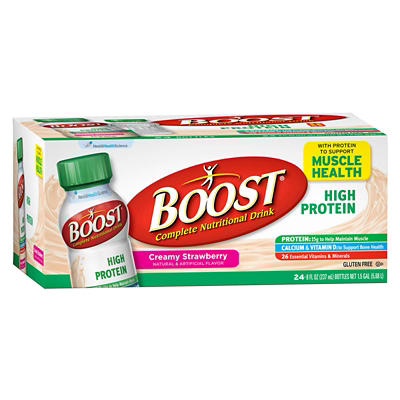 Boost High-Protein Drink, Strawberry, 24 pk./8 oz.