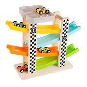 Toy Time 4-Pc. Wooden Car Ramp Race Car Set