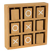 Toy Time Tic-Tac-Toe Small Wooden Travel Game