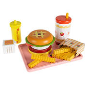 Toy Time Kid's Fast Food Cheeseburger Meal Playset