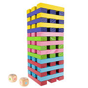 Toy Time Nontraditional Giant Wooden Blocks Tower Stacking Game