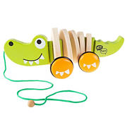 Toy Time Wooden Push and Pull Alligator