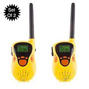 Toy Time Kids Walkie Talkie Set - Yellow
