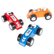 Toy Time 3-Pc. Wooden Race Car Set