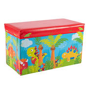Toy Time Foldable Dinosaur Toy Box Chest