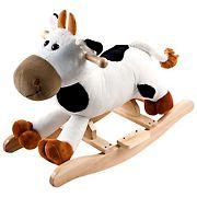 Toy Time Plush Cow Rocking Ride-On
