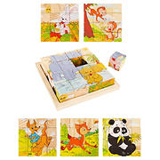 Toy Time 6-in-1 Animal Block Puzzle