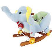Toy Time Plush Elephant Rocker Ride-On