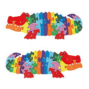 Toy Time 26-Pc. Wooden Alligator Jigsaw Puzzle