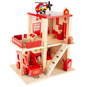 Toy Time 3-Level Fire Station Playset