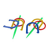 Toy Time 2-in-1 Horseshoe and Ringtoss Game