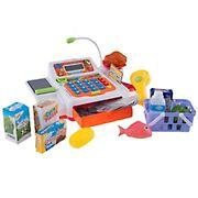 Toy Time Pretend Cash Register Supermarket Playset