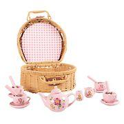 Toy Time 17-Pc. Porcelain Mini Tea Set