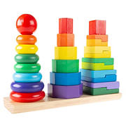 Toy Time Rainbow Stacking Shapes