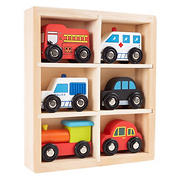 Toy Time 6-Pc. Wooden Car Playset