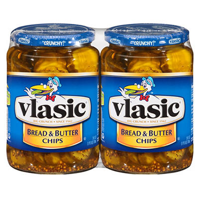 Vlasic Bread and Butter Pickles, 2 pk./24 oz.