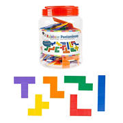 Toy Time 72-Pc. Rainbow Pentominoes Set