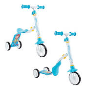 Toy Time 2-in-1 Convertible Ride-On Scooter with Adjustable Sit