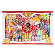 Toy Time 120-Pc. Pretend Play Assorted Food Set - Fresh, Boxed and Canned Food