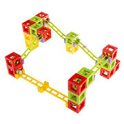 Toy Time 36-Pc. Magnetic 3D Block Marble Run Construction Set