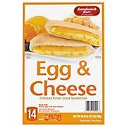 Sandwich Bros. Egg & Cheese Flatbread Pocket Sandwiches, 14 ct.