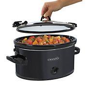 Crock Pot Cook and Carry 6 Qt. Manual Slow Cooker - Black