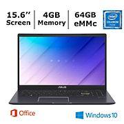 ASUS L510 Laptop, Intel Celeron N4020 Processor, 4GB Memory, 64GB eMMC -BONUS 1-Year of Office365 Personal