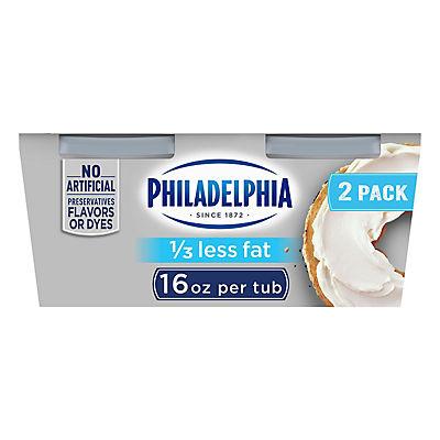 Kraft Philadelphia Light Cream Cheese Spread, 2 pk./16 oz.