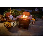 """Endless Summer The Harris 38"""" Square Dual Heat Outdoor Gas Fire Pit"""