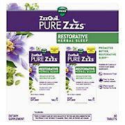Vicks ZzzQuil PURE Zzzs Restorative Herbal Sleep Aid, 2 ct.