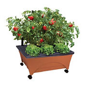 EMSCO Group City Picker Self Watering Raised Bed Grow Box with Casters - Terracotta